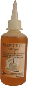 Service Oil - essential to maintain the smooth running of your machine