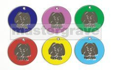 Dog Face design pet tag new from Mastergrave Ltd