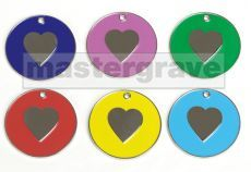 Heart design pet tag new from Mastergrave Ltd