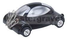 Black Plastic Car with LED light and Magnet for Paperclips (ET7)